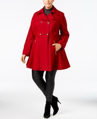 Macy's Flared Peacoat by Shelli Segal